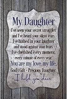 Dexsa My Daughter.New Horizons Wood Plaque