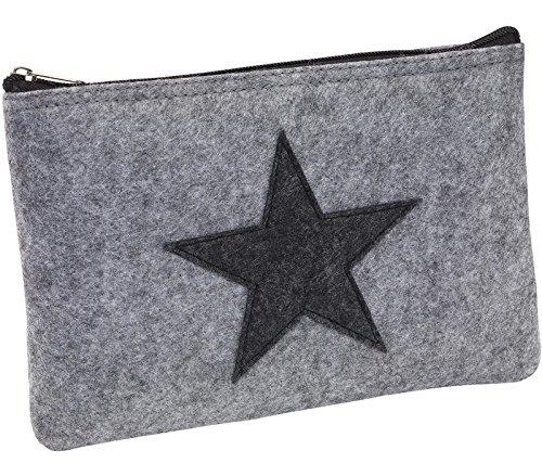 Elegante Bankmappe Banktasche Geldtasche Geldbeutel Etui für Geldscheine Filz mit Reißverschluss auch Stifteeui Kosmetiktasche