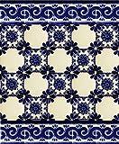 Mirta - 30 Azulejos mexicanos 10x10 cm - Baldosas de cerámica artesanal de Talavera para baños, ducha, escaleras, pared de cocina. Mucho mejor que las calcomanias autoadhesivas – patchwork