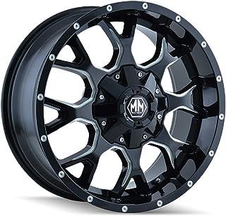 MAYHEM WARRIOR BLACK/MILLED SPOKES Wheel (17 x 9. inches /6 x 114 mm, 18 mm Offset)