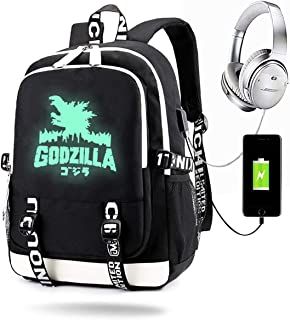 LIUBT Godzilla Dinosaur Laptop Shoulder Messenger Bag Computer Briefcase Business Notebook Sleeve Cover Carrying Handle Bag for 14 inch to 15.6 inch