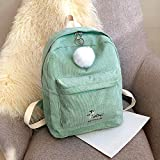 """Material: Corduroy Closed way:Zipper Pattern design: Pure Color Size: 30cm(L)x13cm(W)x39cm(H)/11.81(L)x5.11(W)x15.35(H)"""" Package Content:1PCbackpack"""