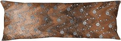 ArtVerse Katelyn Elizabeth Monochrome Planets & Stars Body Pillow (w/Removable Insert), 20 x 54, Orange