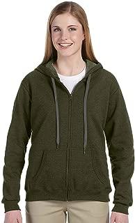 Women's Vintage Classic Full-Zip Hooded Sweatshirt, Moss, Small