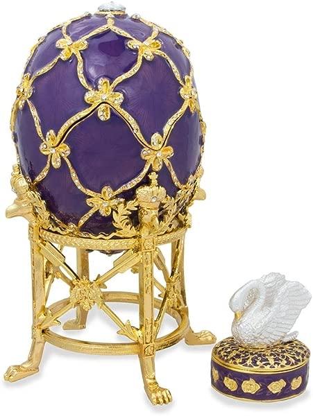 BestPysanky 1906 The Swan Royal Russian Egg