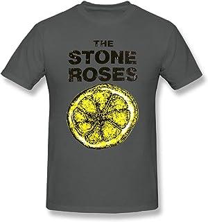 Duanfu The Amplified Stone Roses Lemon DIY Men's Comfort Cool Crewneck Cotton Short Sleeve T-Shirt