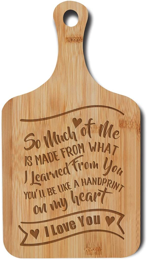 Dofala Inspirational Unconditional Love Forever In My Heart Bamboo Cutting Board, Farmhouse Kitchen Decor for Mom Grandma Teacher Mother's Day Birthday, Christmas, Thanksgiving Gift