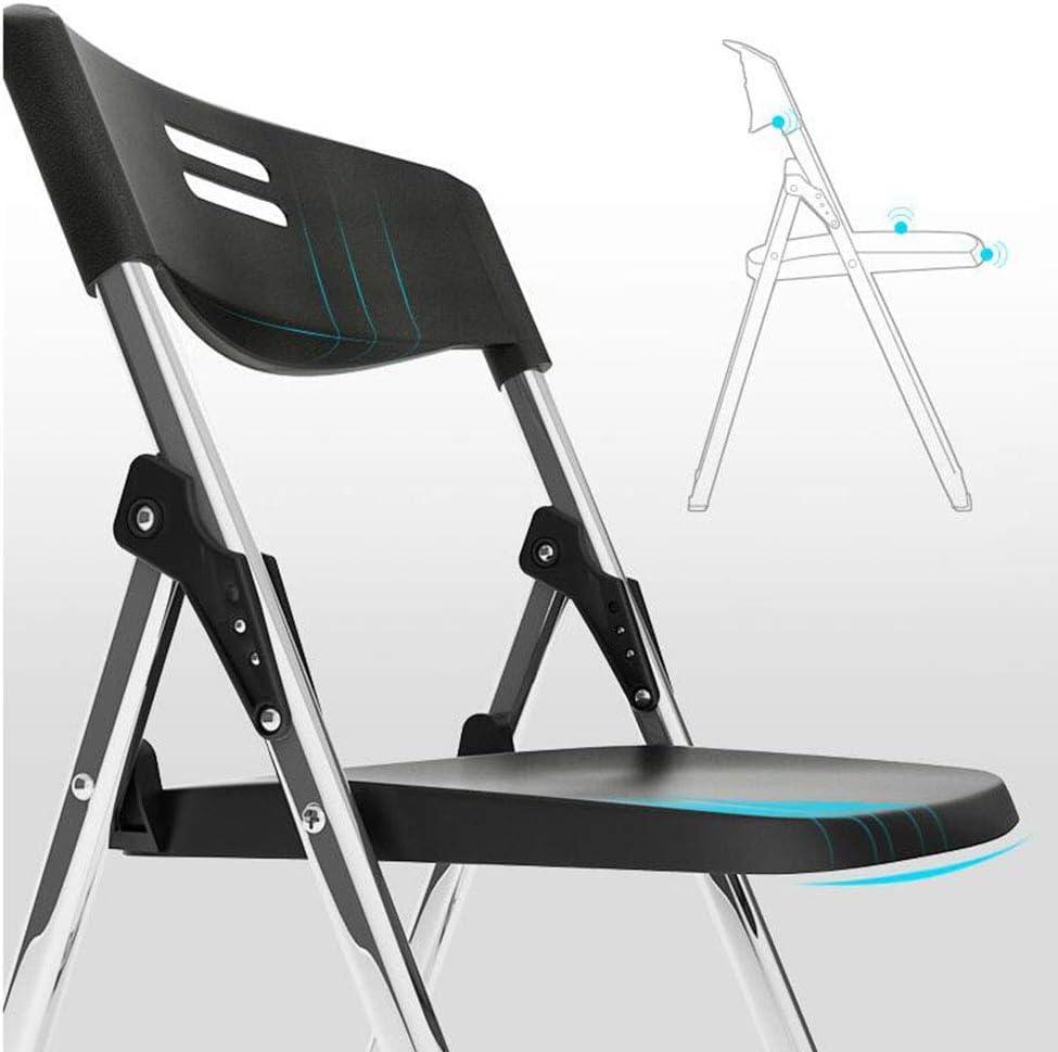 GQQ Chaise de Bureau, Chaise de Salle de Conférence Bureau de Réception Chaise Pliante En Plastique Tabouret Simple (41 * 42 * 82Cm) Chaise Pliante,Gris Noir