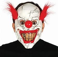 Guirca grafoplas máscara de Payaso Vaqueros Payaso con Pelo, Color Blanco/Rojo, 2484