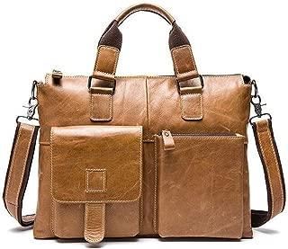 JJJJD Laptop Bag,Business Briefcase for Men,Large Waterproof Laptop Sleeve Shoulder Messenger Bag,Expandable Multifunctional Computer Bag for Tablet/Notebook (Color : Brown)