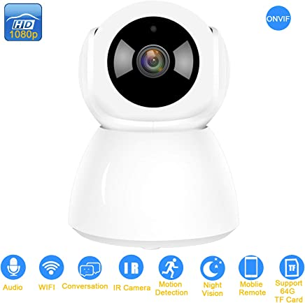 AUTENS Wireless IP Camera Support Two Way Audio Motion Detection Pan/Tilt 1080P Onvif IR Day Night 2MP CCTV Network Surveillance Camera