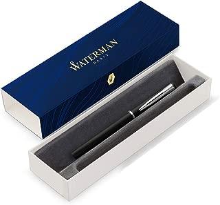 Waterman Graduate Allure Fountain Pen, Black Lacquer, Fine Nib, Blue Ink, Gift Box