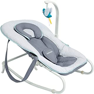Babymoov Łopatka dla niemowląt Graphik blue, 5-stopniowa regulacja oparcia, zdejmowany łuk do zabawy