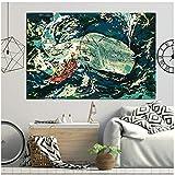 Moby Dick Gemälde Blauwal Poster und Drucke dekorative