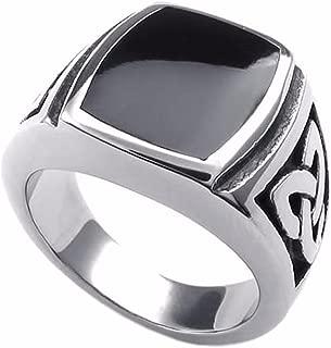 Stainless Steel Rings for Men Vintage Biker Signet Ring Size 7-14