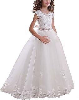 Aprildress ドレス アイボリーレース 初聖体式?花嫁付き添い ヴィンテージホワイト
