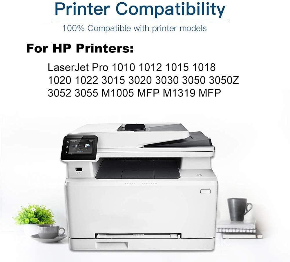 4-Pack (Black) Compatible 12X (Q2612X) Printer Toner Cartridge (High Capacity) fit for 1010 1012 1015 1018 1020 1022 3015 3020 3030 3050 3050Z 3052 3055 M1005 MFP M1319 MFP Printer