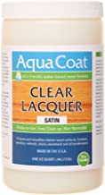 AQUA COAT Clear Lacquer, Water-Based Wood Finish (Satin)