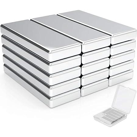 Wukong Aimants de Terre Rare,20PCS Aimants Neodyme Super Rectangle aimants en néodyme rectangulaires, réfrigérateur, sous-Sol bâtiment- 30X10X3mm