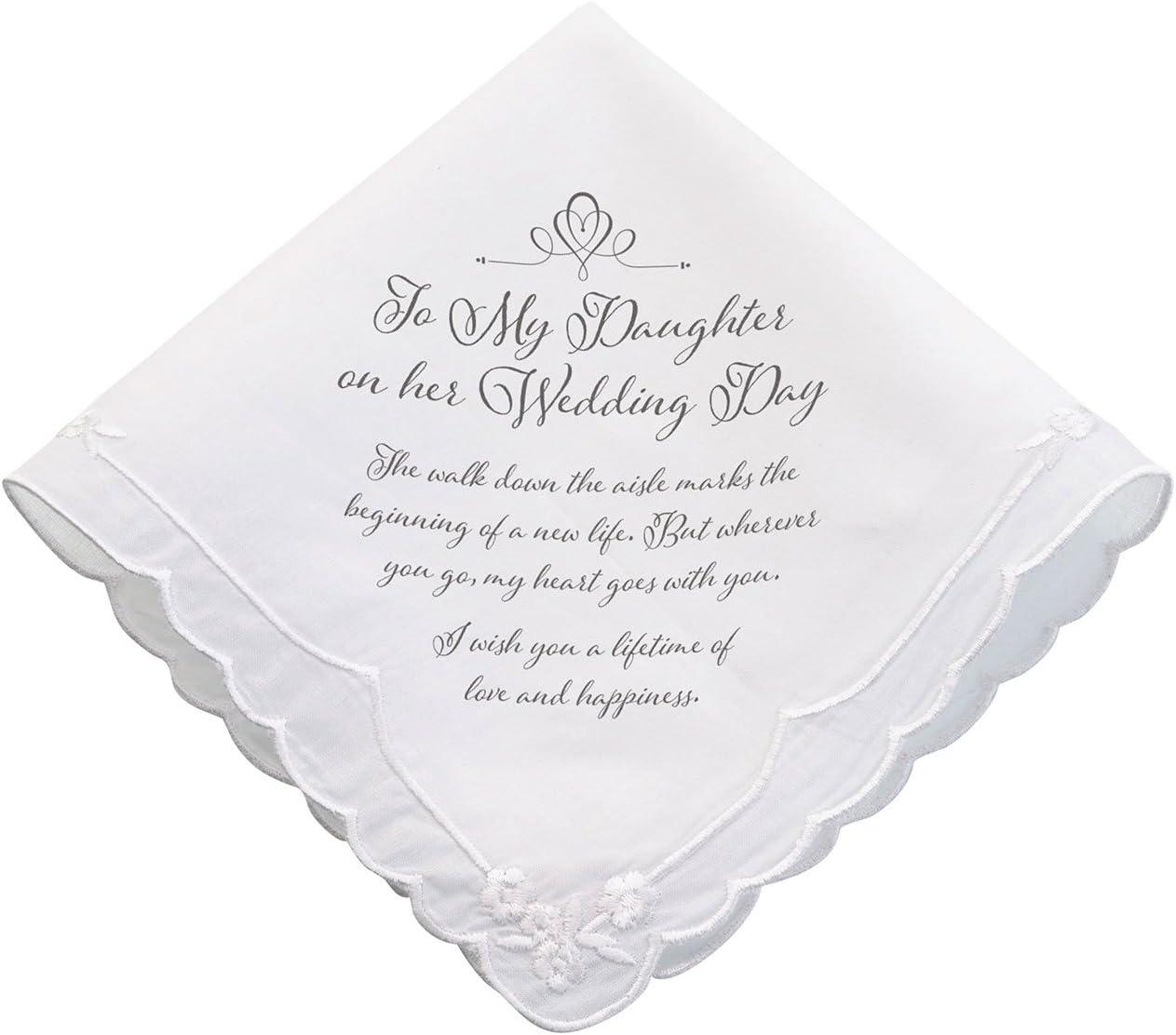 Lillian Rose Daughter Verse Wedding Gift Keepsake Hankie, 6.5