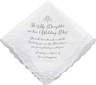 Lillian Rose Daughter Verse Wedding Gift Keepsake Hankie