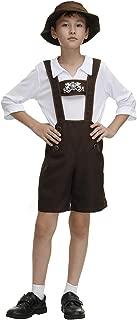 AOLAIYAOQU Lederhosen Costume for Kids Oktoberfest Bavarian German Beer Role Play Halloween Costumes for Boys