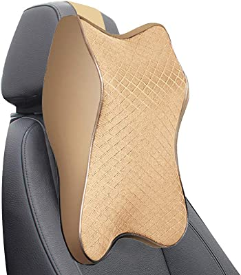 Habiyong Car Safety Seat Neck Pillow Washable Cover Neck Pain Relief Neck Rest Head Cushion Pure Memory Foam Ergonomics Design