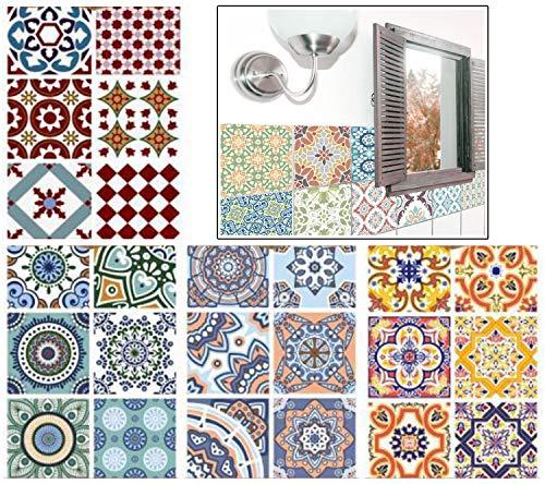 Blizim 24 Piezas 15x15cm Adhesivo Azulejos Adhesivo Decorativo Baño y Cocina