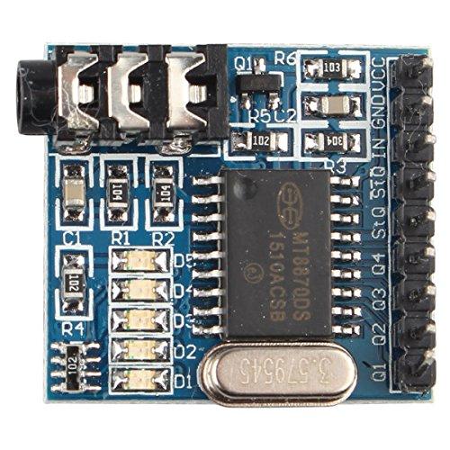 HALJIA MT8870 DTMF módulo decodificador de voz Teléfono Módulo descodificador de audio marcación por voz módulo de Control de voz Compatible con Arduino, Raspberry Pi, brazo MCU y más