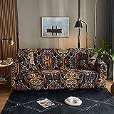 WXQY Funda de sofá elástica Estampada, Antideslizante, Suave, Creativo, Negro, patrón geométrico, Funda de sofá, Funda de sofá A6, 1 Plaza