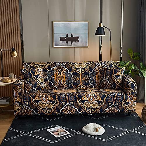 Funda de sofá con Estampado de Cuadros Antipolvo Funda de sofá Lisa de algodón Fundas de Muebles con Todo Incluido Funda seccional en Forma de L A19 4 plazas