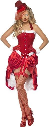 Smiffys Hei  Cabaret Weißachtsfrau-Kostüm für Damen