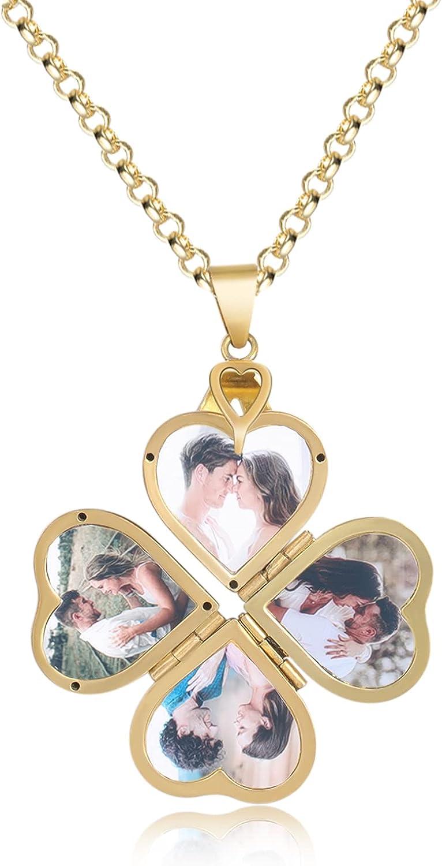 New sales ROSI NEW Photo Locket Pendant Necklaces Heart Love