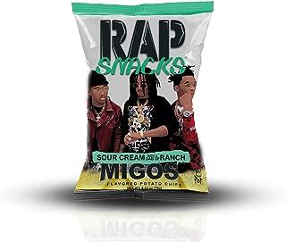 Rap Snacks Migos Sour Cream with a Dab of Ranch Potato Chips 2.75 oz Bag