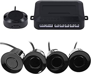 سیستم رادار سنسور پارکینگ پشتیبان معکوس ماشین یخبندان ، فاصله بوق ، فاصله تشخیص: 30 ~ 150CM ، سنسورهای ضد آب (کابل 22mm قطر 2.3M) 4 بسته X60D (سیاه)