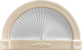 "Original Arch Light Filtering Pleated Paper Shade White, 72"" x 36"""