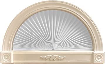 """Original Arch Light Filtering Pleated Paper Shade White, 72"""" x 36"""""""