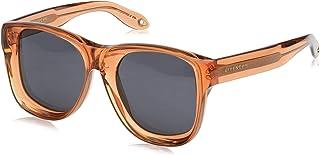 نظارات شمسية من جيفينشي للجنسين - بيج اوبال سالمون/رمادي، 52 ملم، موديل GV 7074/S IR 86E