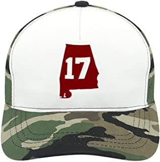 Alabama 17 Champions Suitable for Men and Women, Army Green Baseball Cap, Adjustable Cap Circumference.
