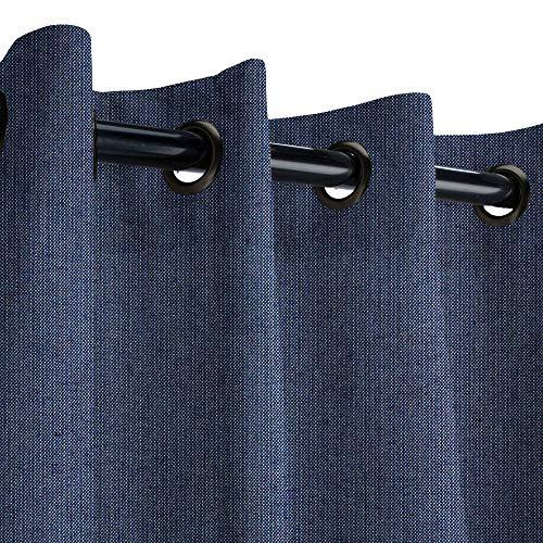 Sunbrella Spectrum Indigo Outdoor Curtain with Dark Gunmetal Grommets 50 in. Wide x 84 in. Long