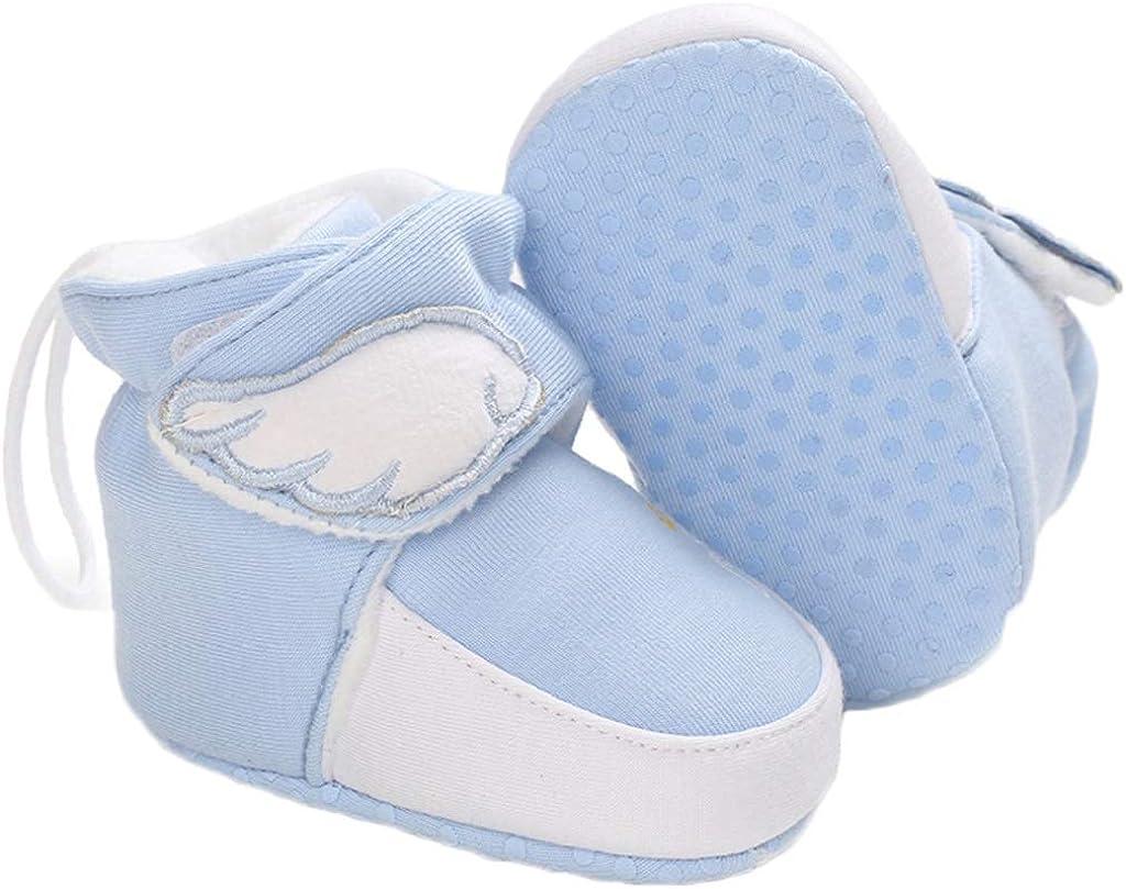 Yvinak Baby Boys Girls Fleece Winter Warm Boots Newborn Infant Winter First Walkers Boots Shoes