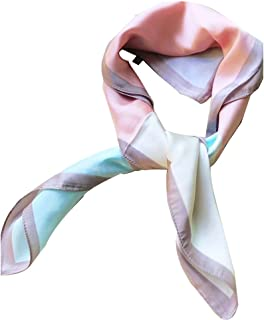 Women's Fashion Soft Large Satin Square Chiffon Polyester Scarf Set Head Neck Multiuse Solid Colors Available