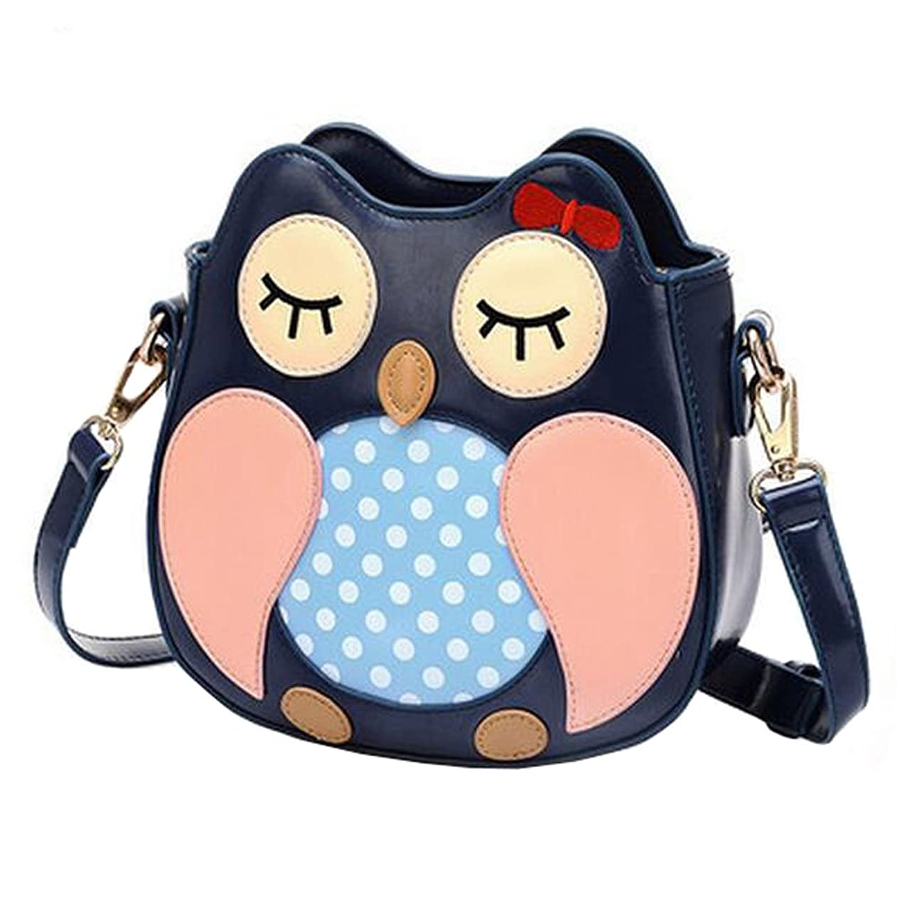 文鹿罪人女の子シングルショルダーストラップバッグPuHandbagレジャーフクロウハンドバッグ人格素敵なショルダー財布バッグ