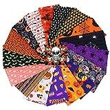 MoonyLI Halloween Cotton Fabric Bundles Quilten Patchwork