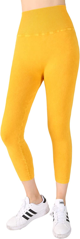 NIKIBIKI Women Seamless Vintage Highwaist Capri Leggings, One Size