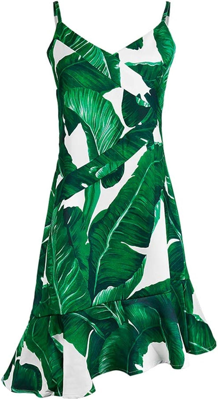 Clothing & Accessories Women Dresses Casual Ladies Beach Skirt Green Beach Holiday Skirt Summer Skirt Sling Halter Dress Party Skirt Nightclub Sexy Mini Skirt (color   Green, Size   M)