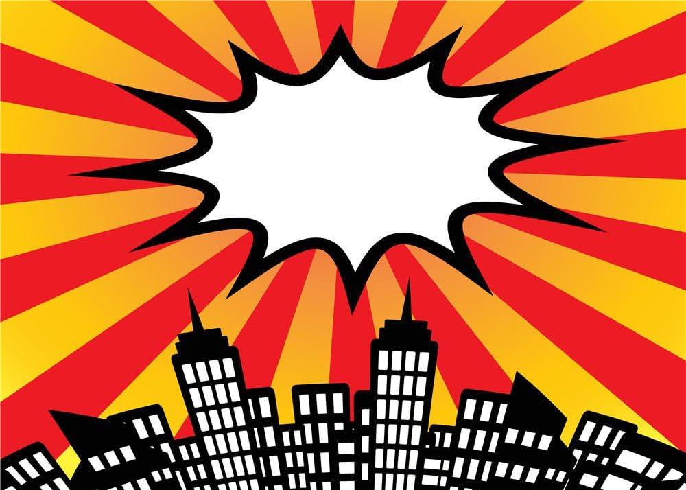 Daniu Fondo de Vinilo Super Hero Ciudad Foto Accesorios para Studio Fotografía de bebé Backdrops 7x5FT 210cm X 150cm Daniu-sc028