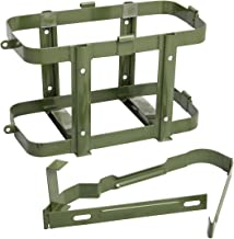 Green Jerry Can Holder for 5 Gallon (20 Liter) Gas Tank - Steel Bracket Mount Holder Gas Can Strap