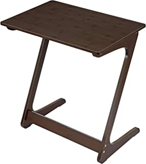 """Sofa Table TV Tray, NNEWVANTE Couch Sofa End Table Laptop Desk Bamboo Coffee Table Side Table Snack Tray for Eating Writing Reading Living Room Modern Furniture Large Size 29.53""""× 15.75""""(Walnut)"""