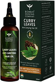 Bombay Shaving Company Anti Greying Hair Oil With Curry Leaves and Darkenyl - Reduces Greys by 50% in 4 Months (100 ml) | ...